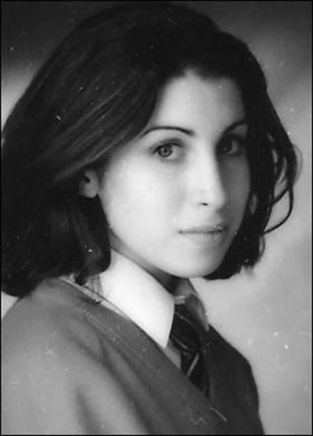 Amy Winehouse as a schoolgirl