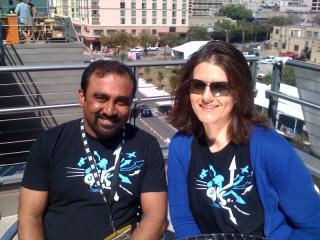 Jackie Danicki and Bhaskar Roy, SXSW 2009